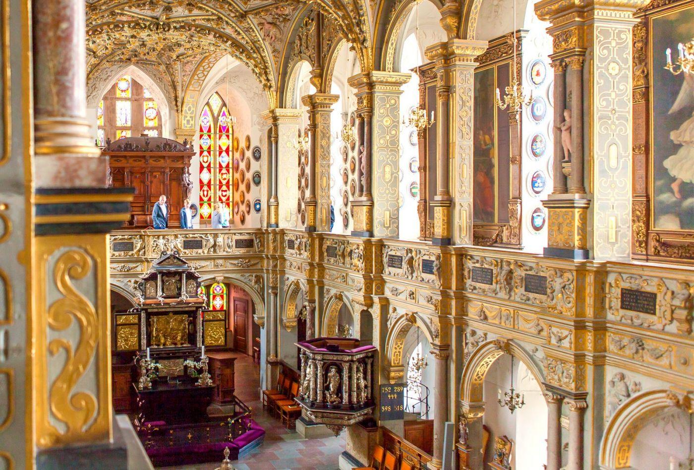 丹麦腓特烈堡城堡,很惊叹主厅吊顶_图1-7