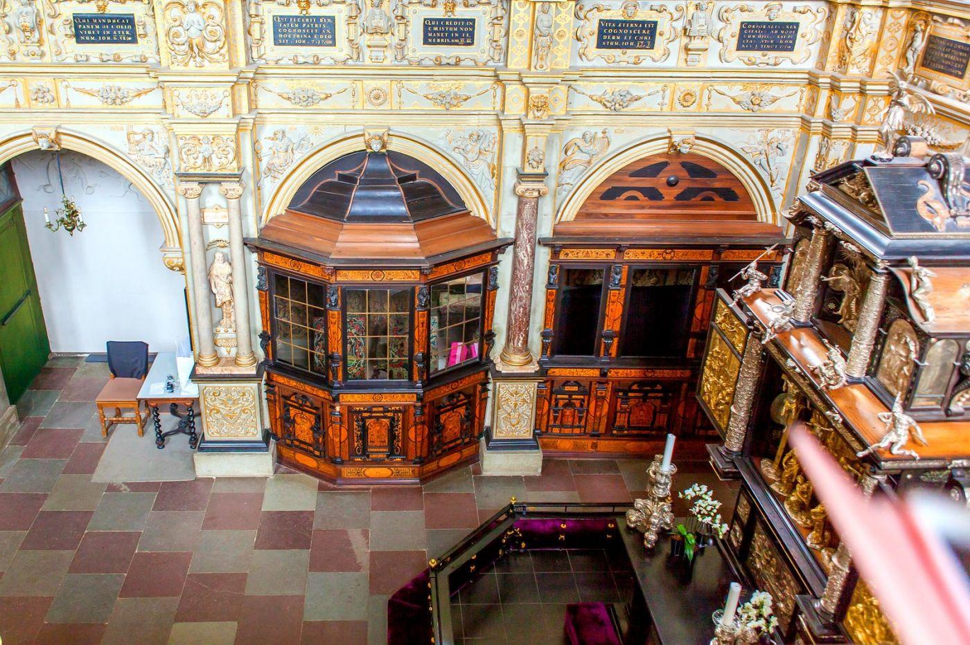丹麦腓特烈堡城堡,很惊叹主厅吊顶_图1-9