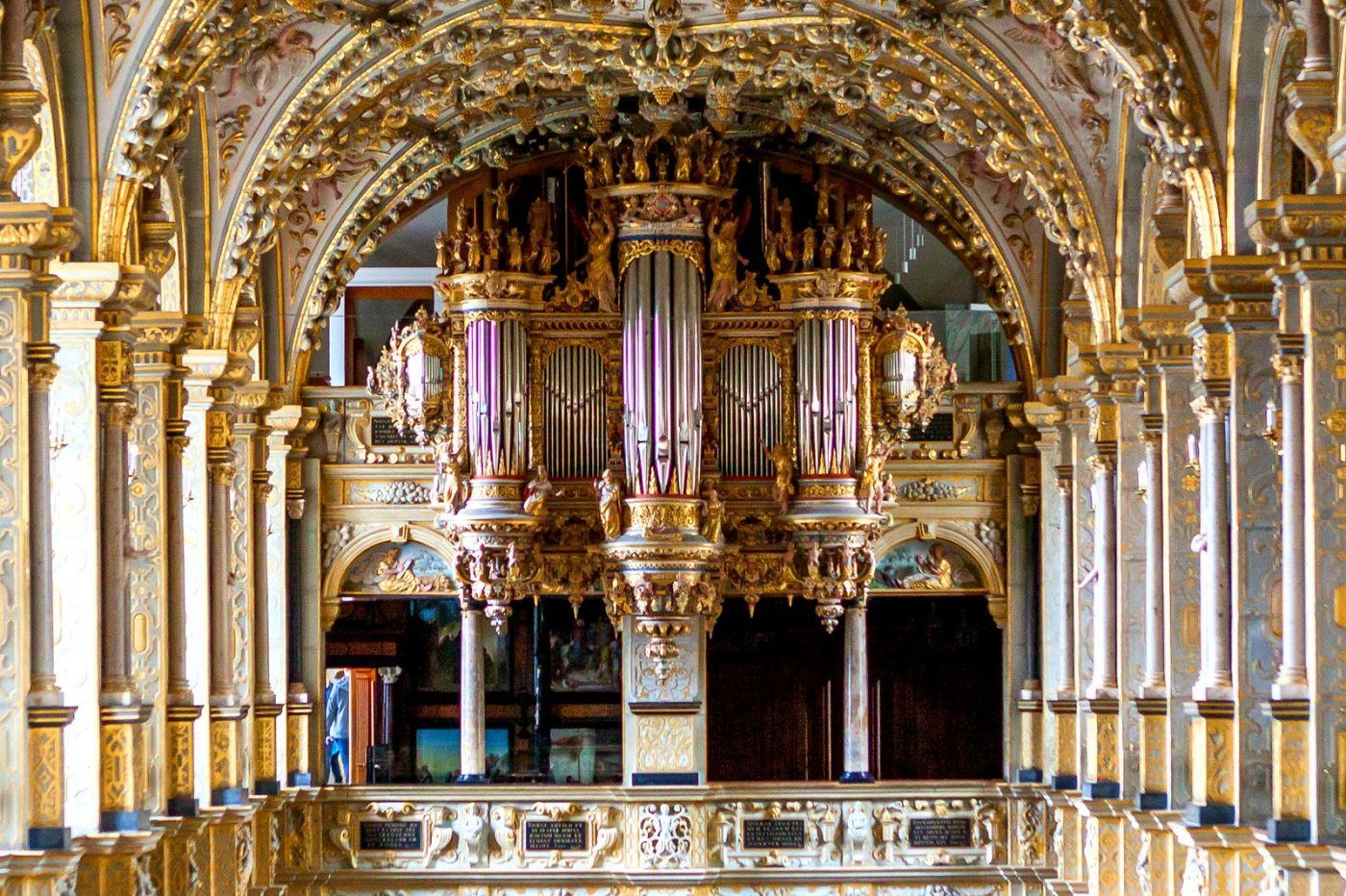 丹麦腓特烈堡城堡,很惊叹主厅吊顶_图1-11