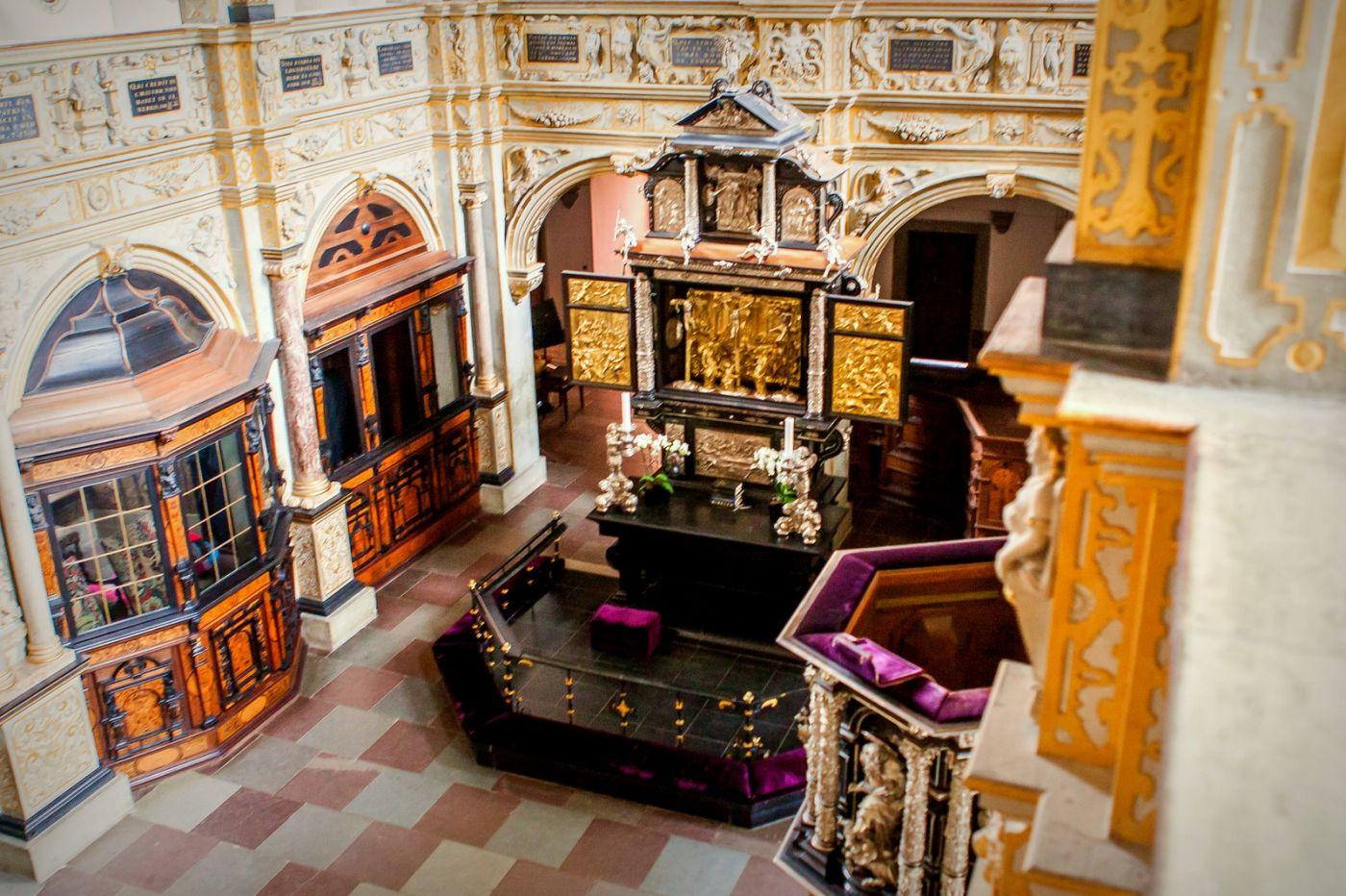 丹麦腓特烈堡城堡,很惊叹主厅吊顶_图1-20