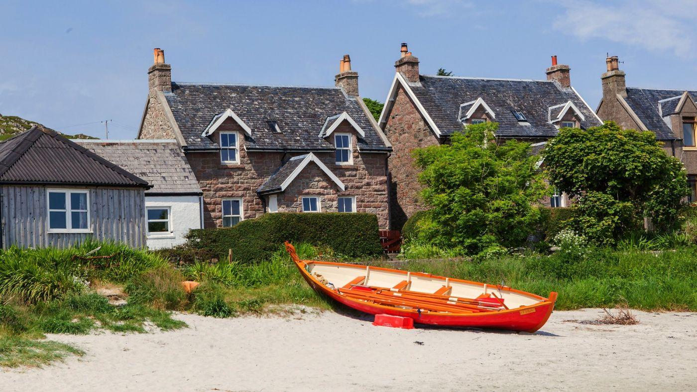 苏格兰见闻,海边的小红船_图1-6