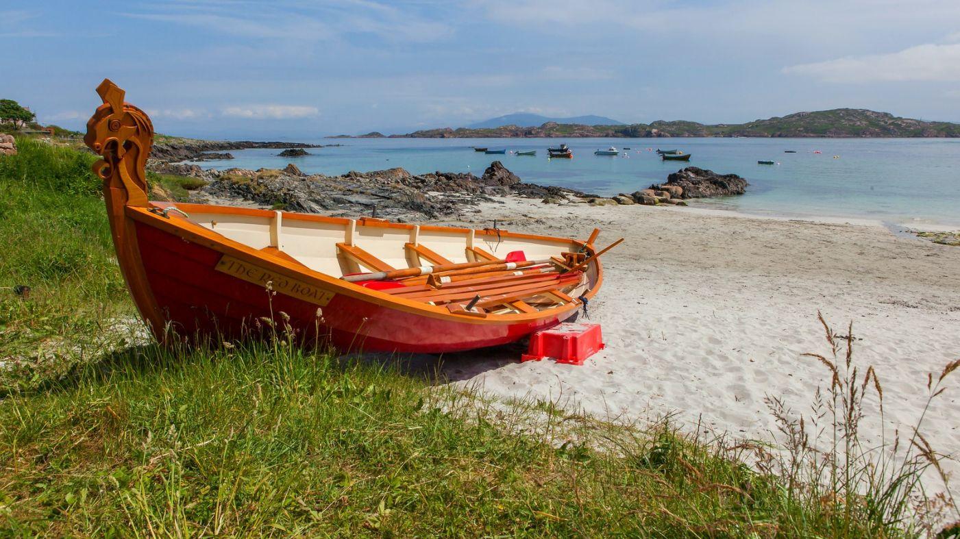 苏格兰见闻,海边的小红船_图1-8