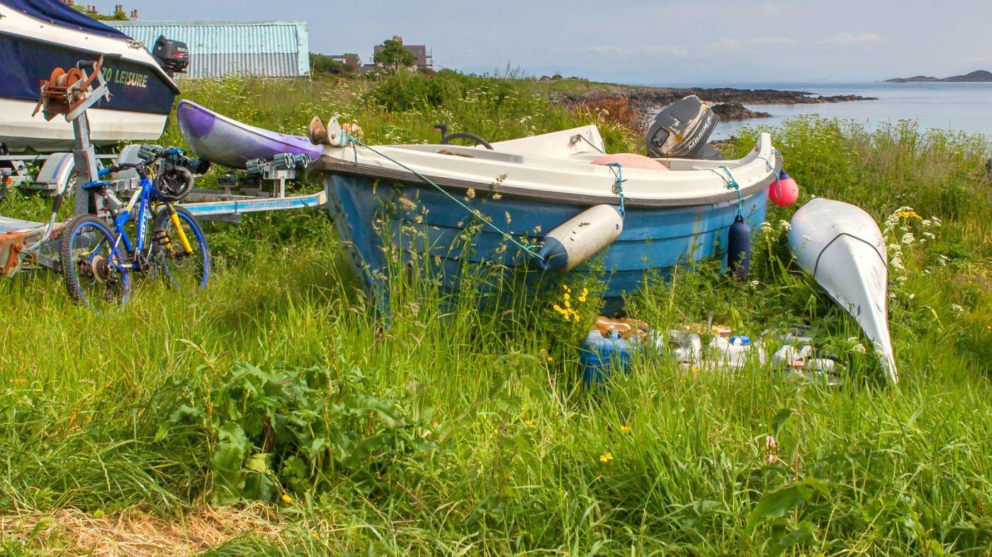 苏格兰见闻,海边的小红船_图1-2
