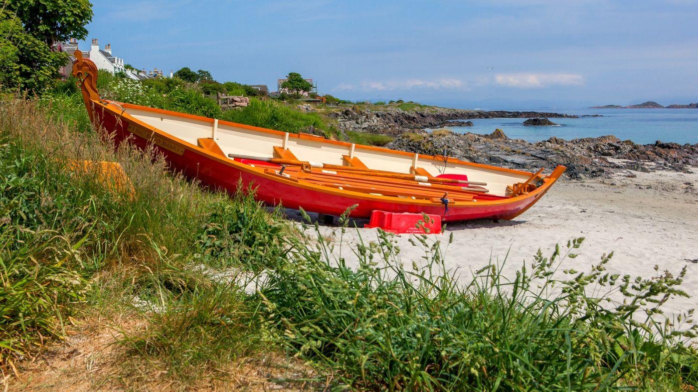 苏格兰见闻,海边的小红船_图1-16