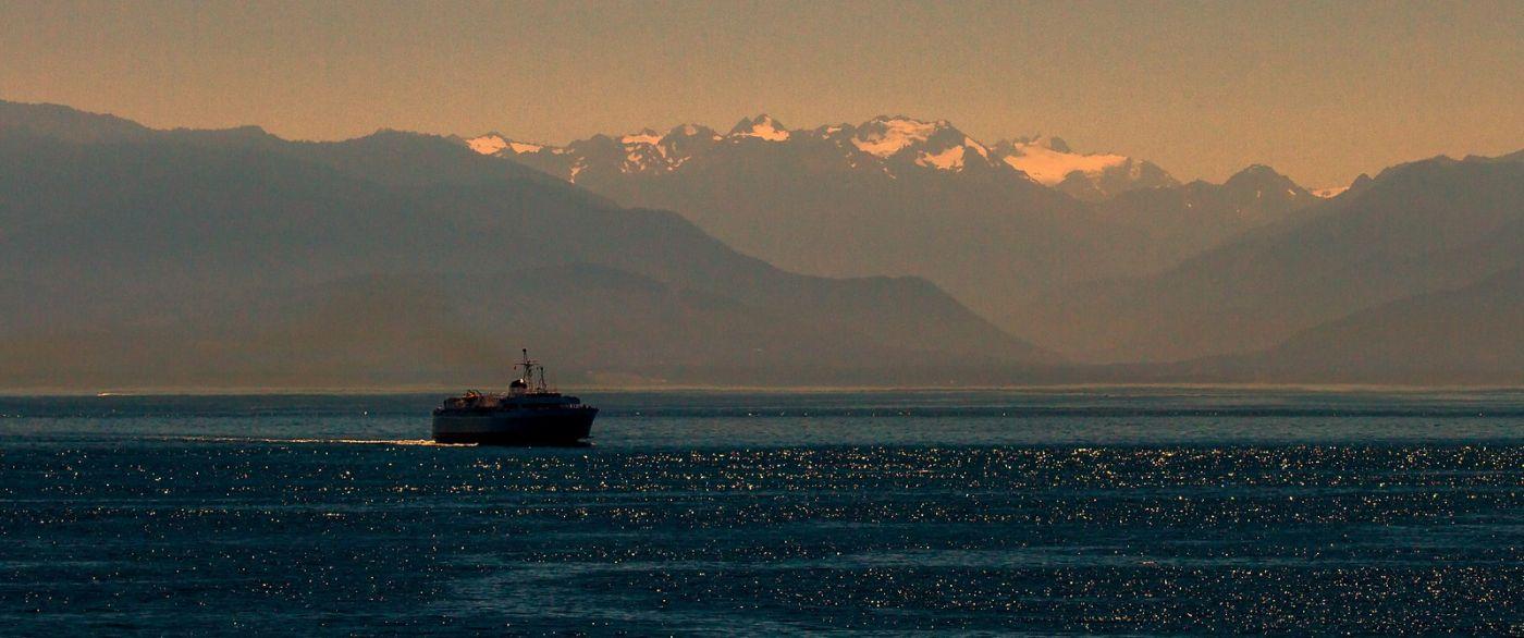 加拿大维多利亚,夜幕降临的海港_图1-16