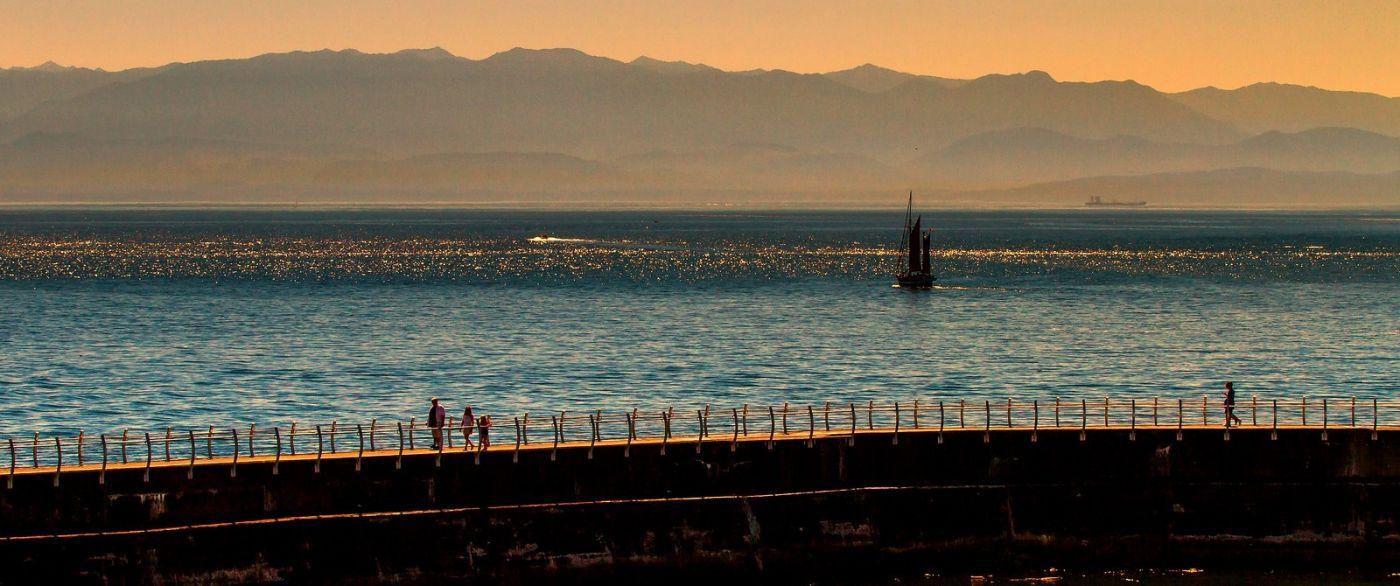 加拿大维多利亚,夜幕降临的海港_图1-19