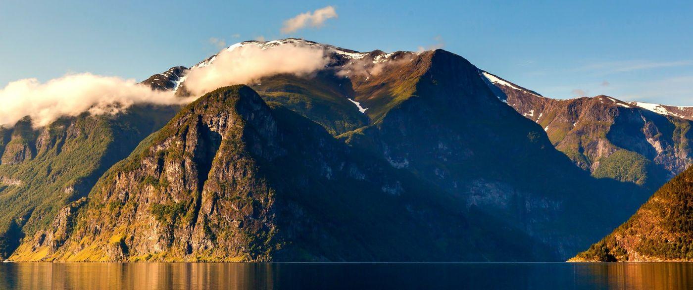 北欧风光,雪山倒影_图1-6