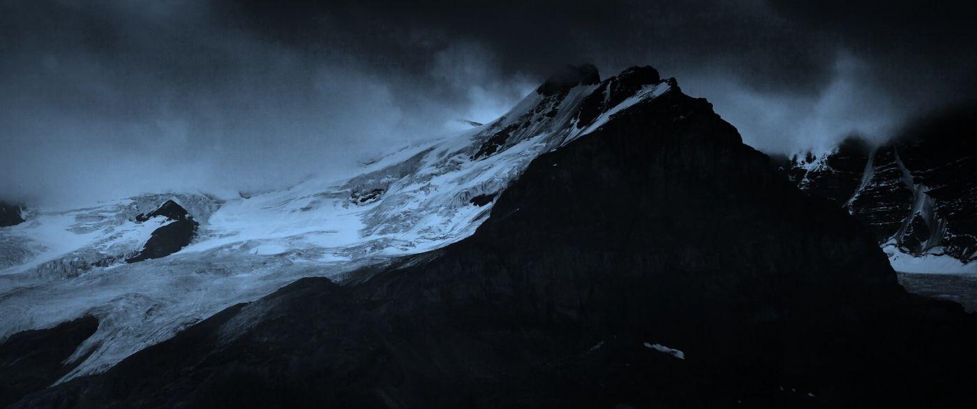 加拿大哥伦比亚冰川,大自然的威力_图1-3