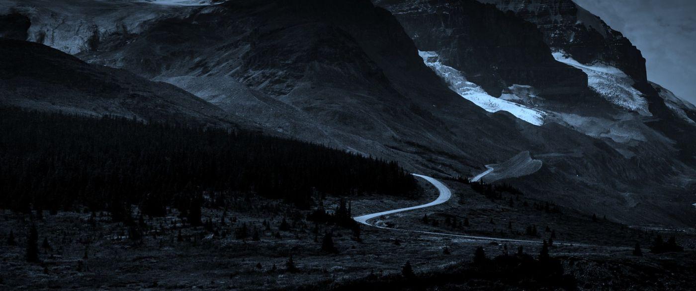 加拿大哥伦比亚冰川,大自然的威力_图1-6