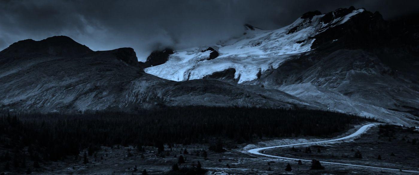 加拿大哥伦比亚冰川,大自然的威力_图1-8