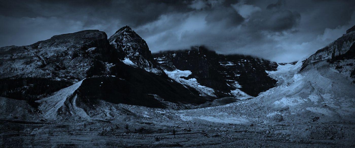 加拿大哥伦比亚冰川,大自然的威力_图1-9