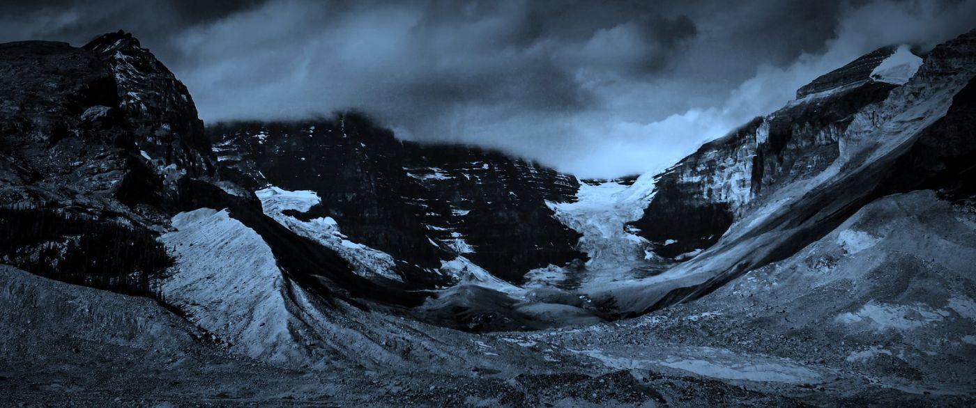 加拿大哥伦比亚冰川,大自然的威力_图1-16