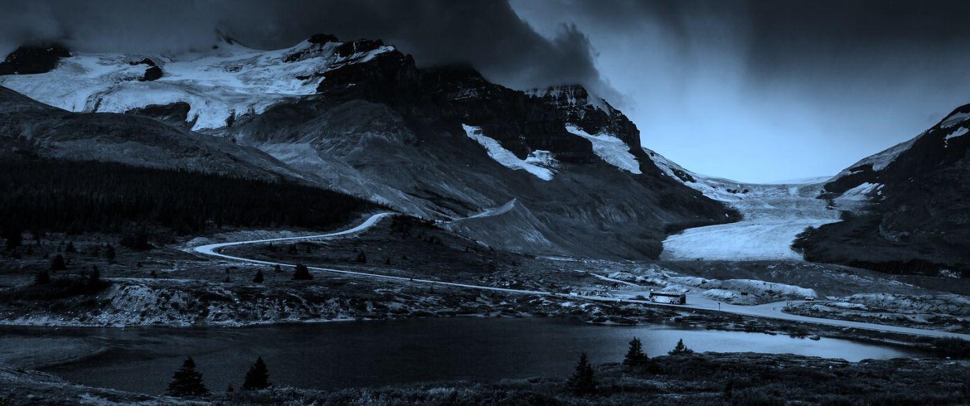 加拿大哥伦比亚冰川,大自然的威力_图1-18