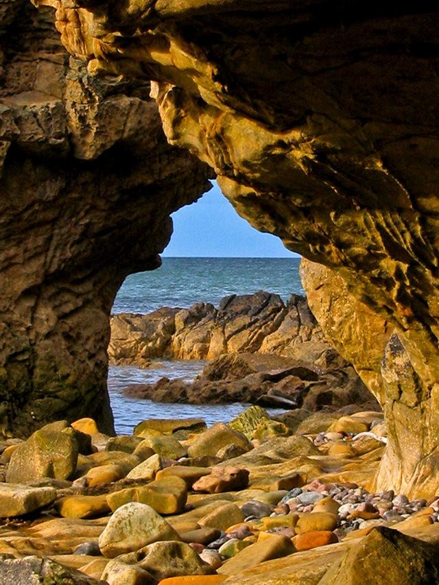 曾记忆,苏格兰的海岸岩石_图1-2