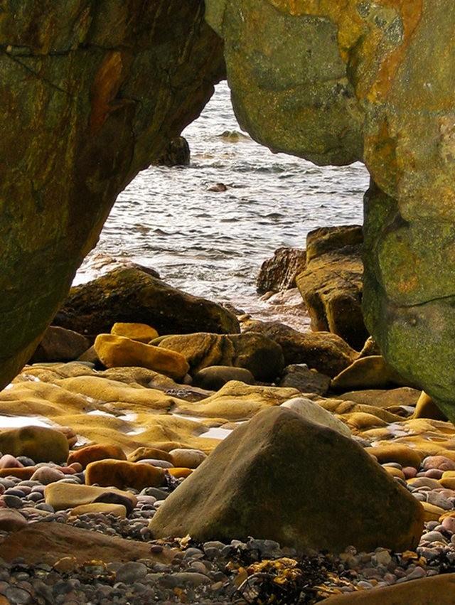 曾记忆,苏格兰的海岸岩石_图1-3
