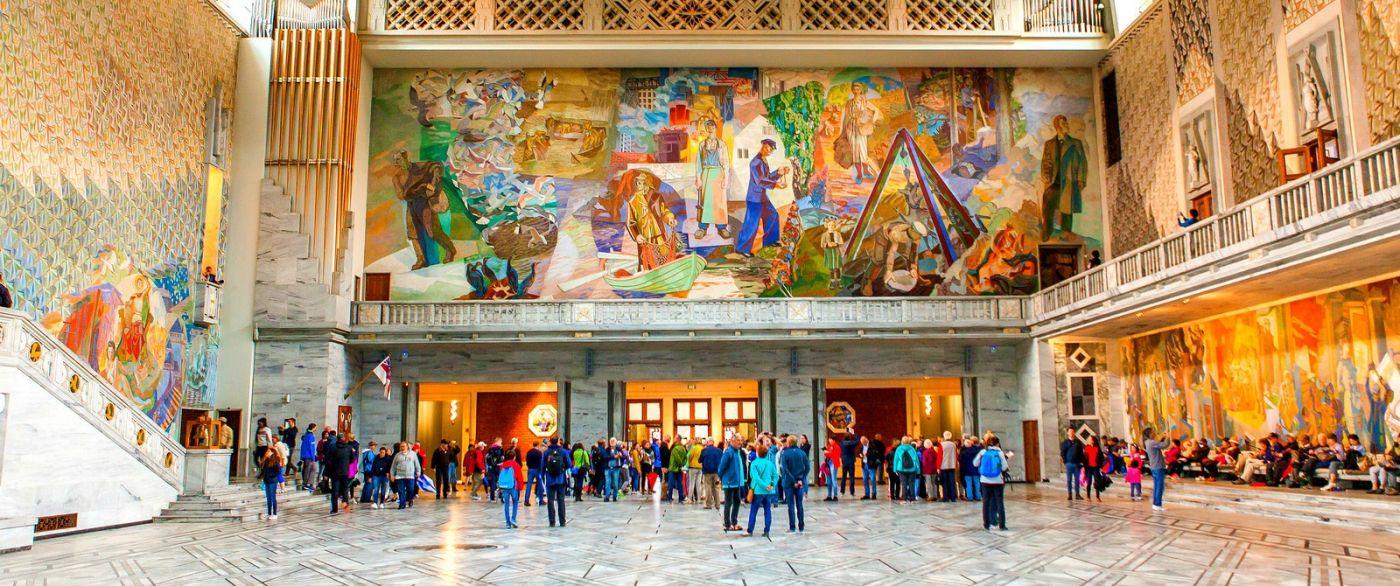 挪威奥塞罗市政厅,四周的人文壁画_图1-1