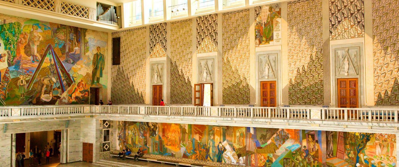 挪威奥塞罗市政厅,四周的人文壁画_图1-8