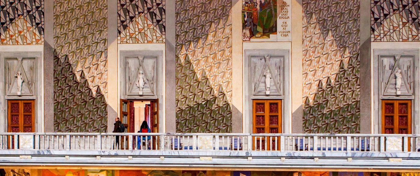 挪威奥塞罗市政厅,四周的人文壁画_图1-7