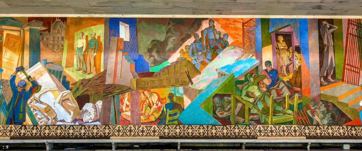 挪威奥塞罗市政厅,四周的人文壁画_图1-9