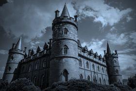 苏格兰Inveraray城堡,黑白的