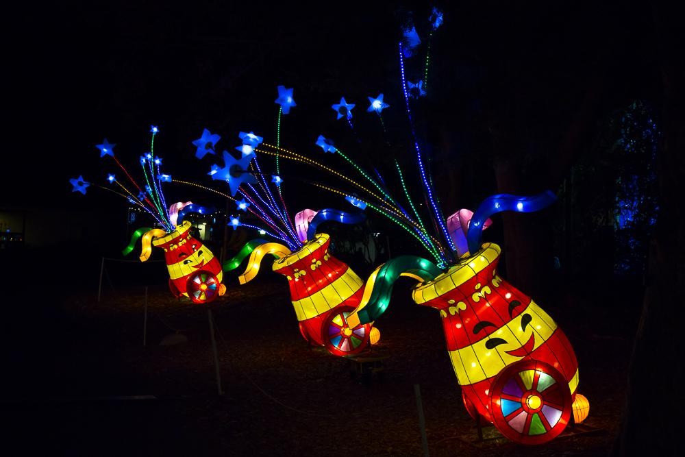 Moonlight Forest 洛杉磯植物園燈飾展覽_圖1-4