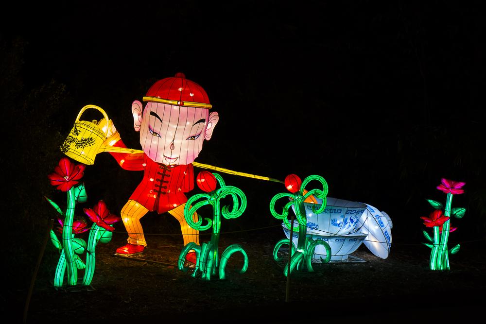 Moonlight Forest 洛杉磯植物園燈飾展覽_圖1-13