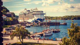 挪威奥塞罗,海港景色