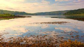 苏格兰美景,远山浅滩