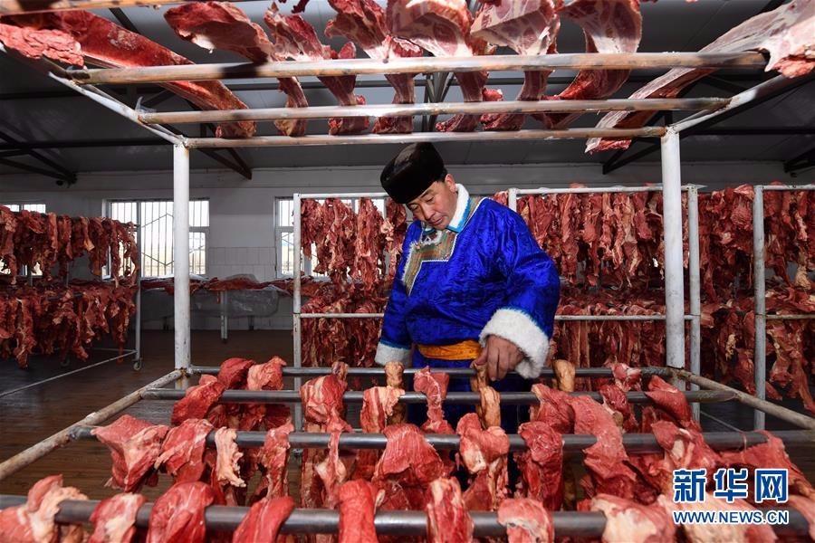 发家致富真好:内蒙古草原上的传统美食 风干牛肉羊肉怎么做 更好吃 ..._图1-5