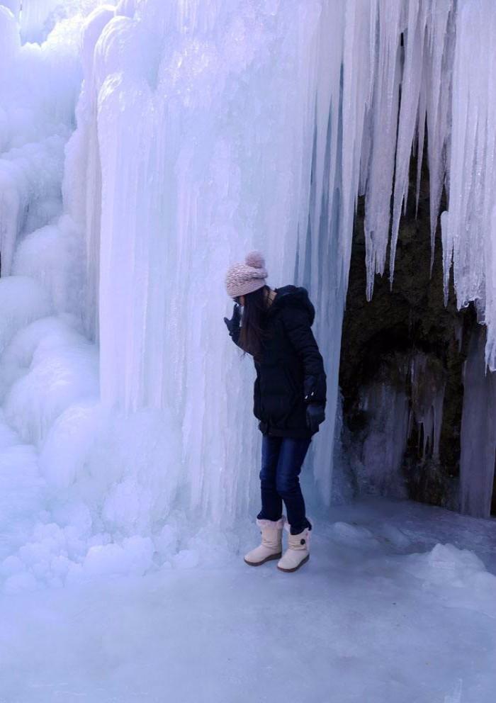 旅游奇观快来看:河南云台山出现冰瀑景观美景_图1-1