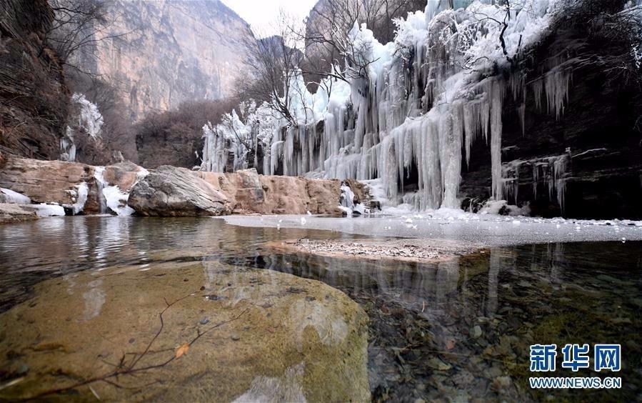 旅游奇观快来看:河南云台山出现冰瀑景观美景_图1-3