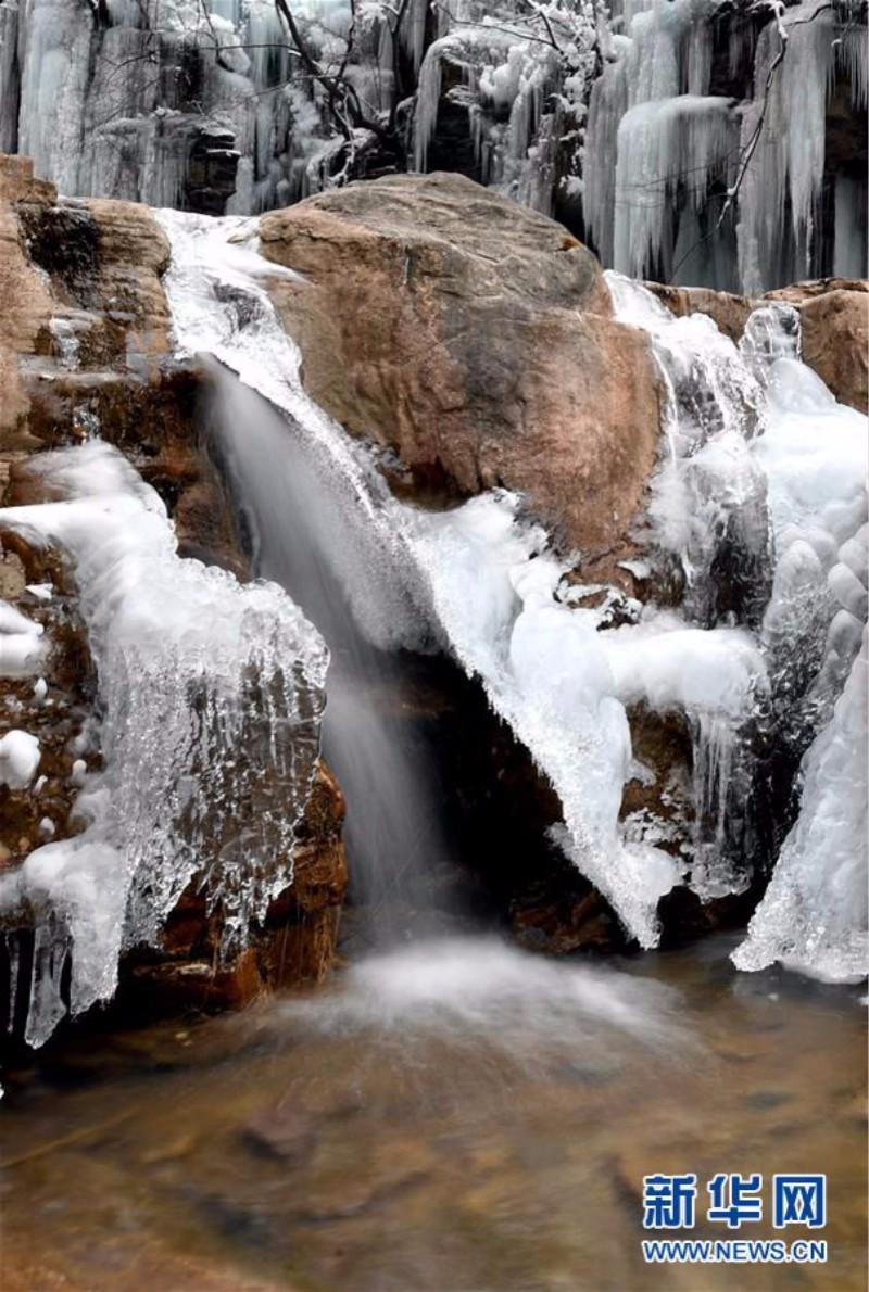 旅游奇观快来看:河南云台山出现冰瀑景观美景_图1-4