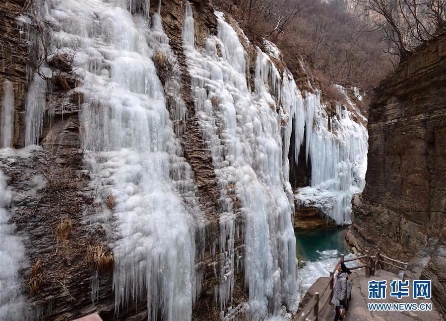 旅游奇观快来看:河南云台山出现冰瀑景观美景_图1-5