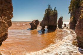 加拿大Hopewell岩石,潮汐的杰作