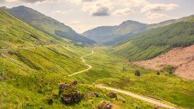 苏格兰美景,山路十八弯