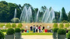 费城长木公园,改建后的喷泉花