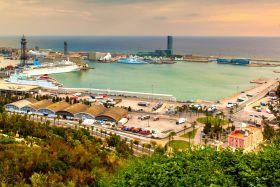西班牙小岛,鸟瞰港景