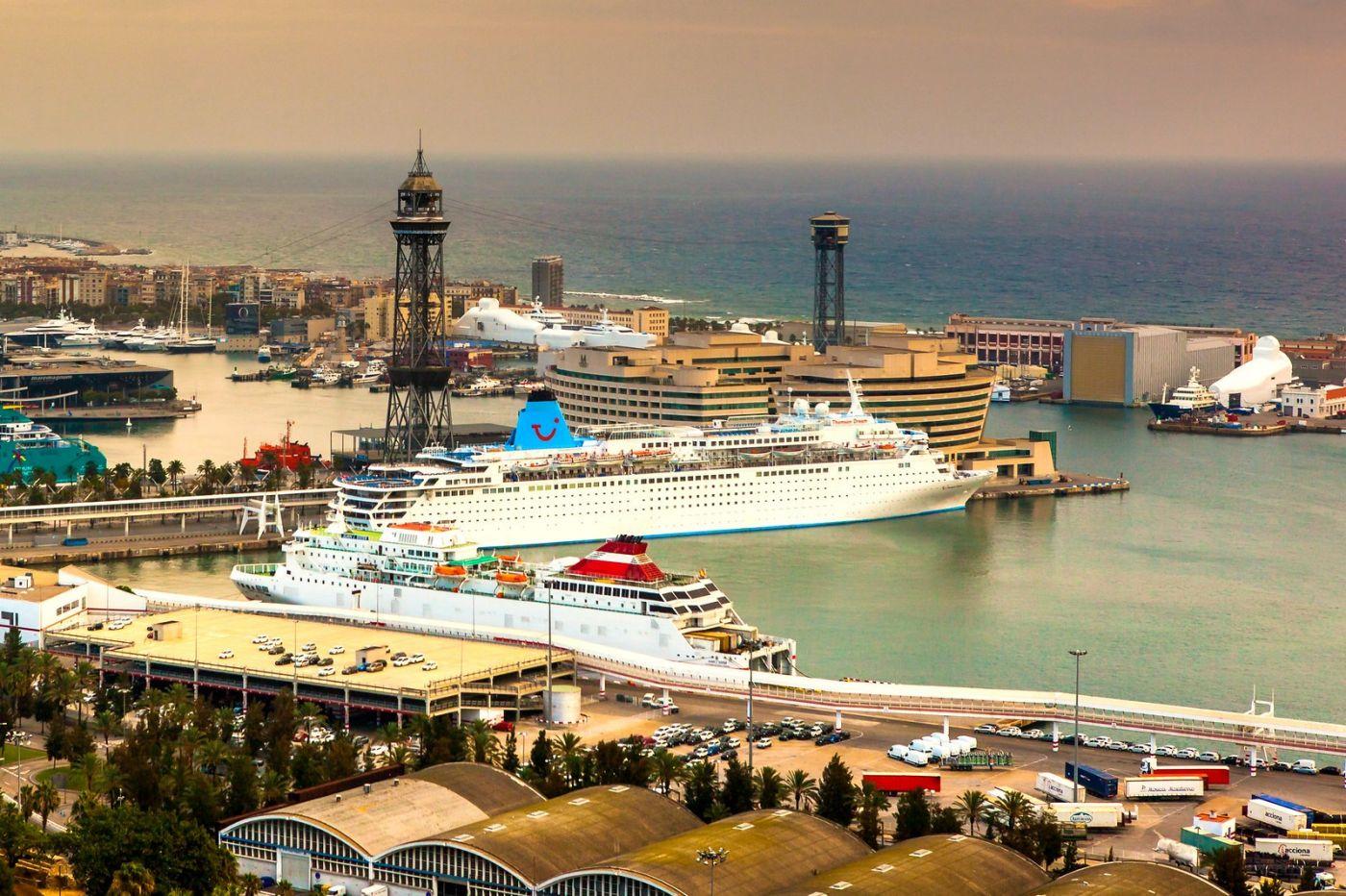 西班牙小岛,鸟瞰港景_图1-7