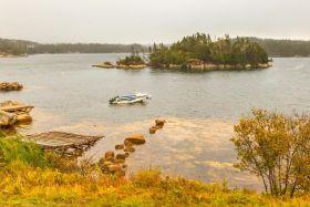 加拿大旅途,朦胧的窗外景色