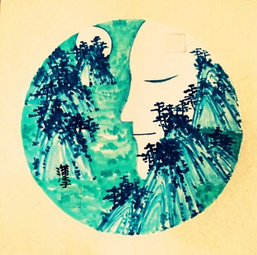 中国浪漫主义意象画派创始人张炳瑞香诗《春别离》_图1-1