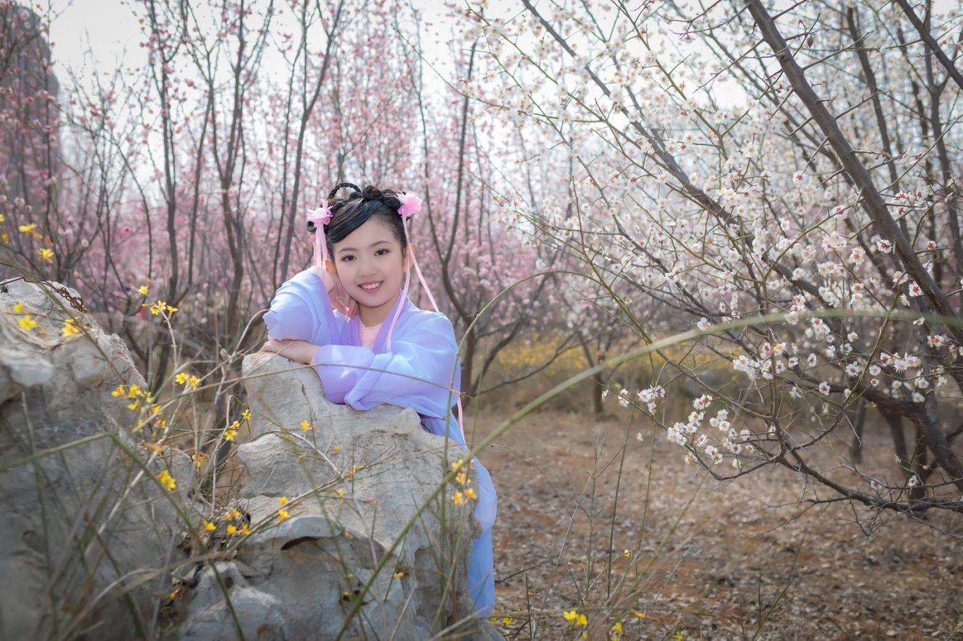 翟家小妮翟雅慧之春到梅园 花儿与少年系列 梅园尽显中国风_图1-11