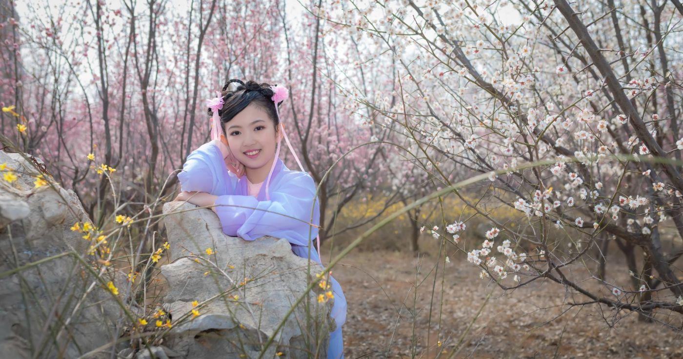 翟家小妮翟雅慧之春到梅园 花儿与少年系列 梅园尽显中国风_图1-13