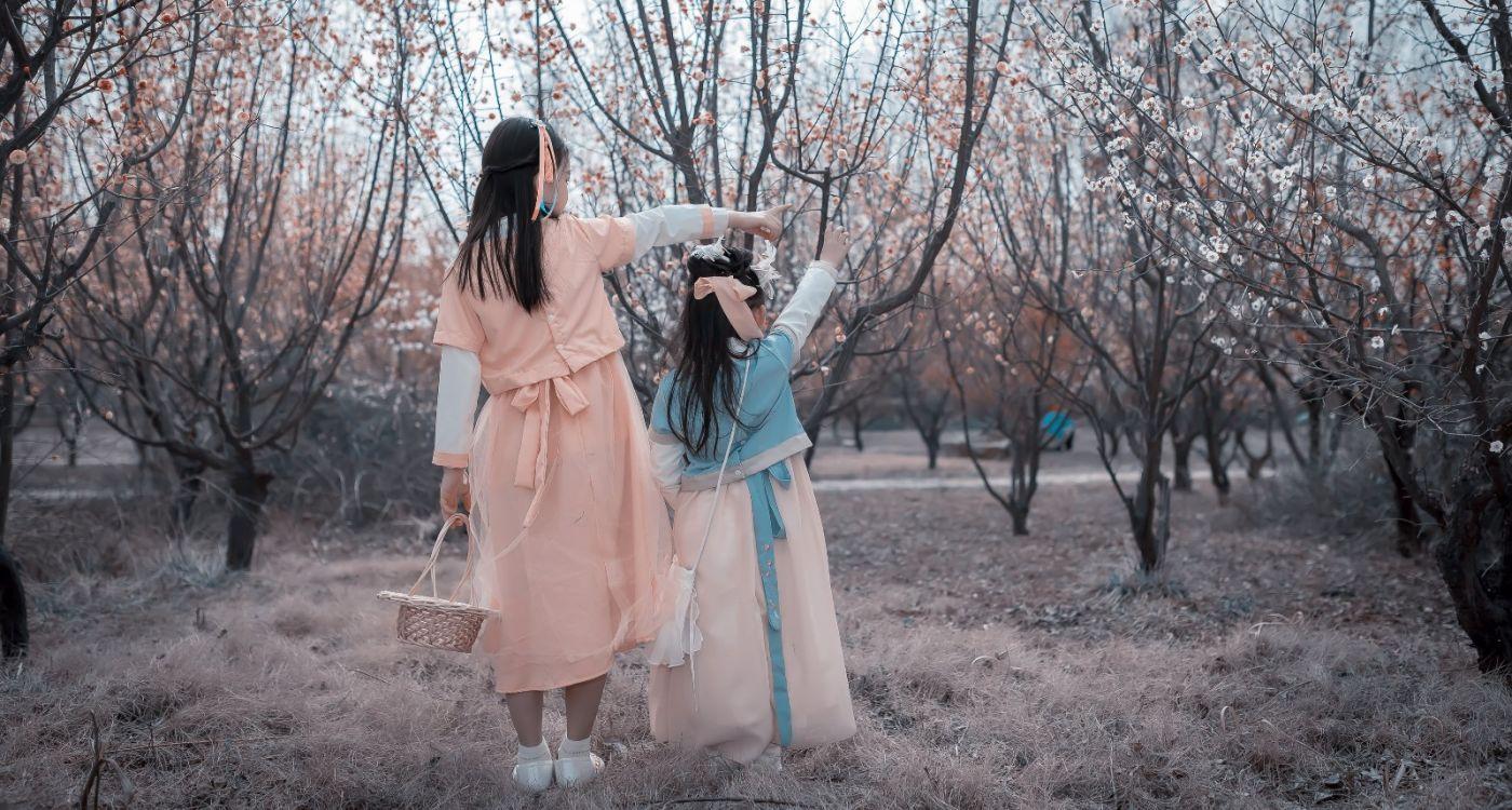 梅林馀妍不争春 小小仙女下凡尘 在费县拍摄小小仙女候依琳_图1-3