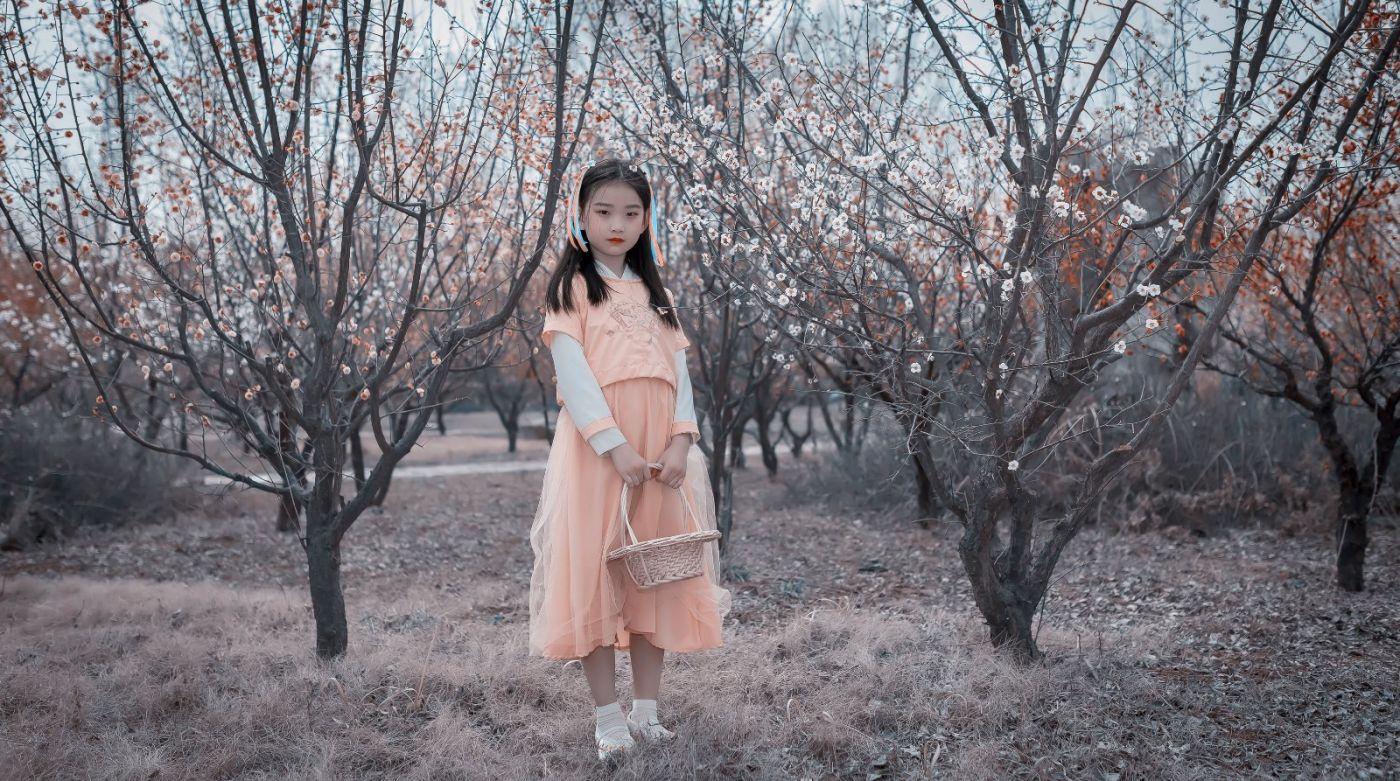 梅林馀妍不争春 小小仙女下凡尘 在费县拍摄小小仙女候依琳_图1-5