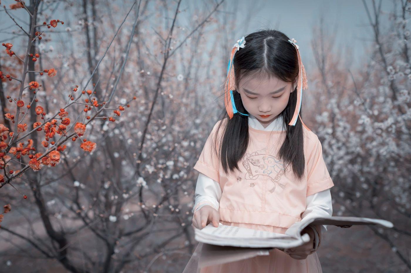 梅林馀妍不争春 小小仙女下凡尘 在费县拍摄小小仙女候依琳_图1-11