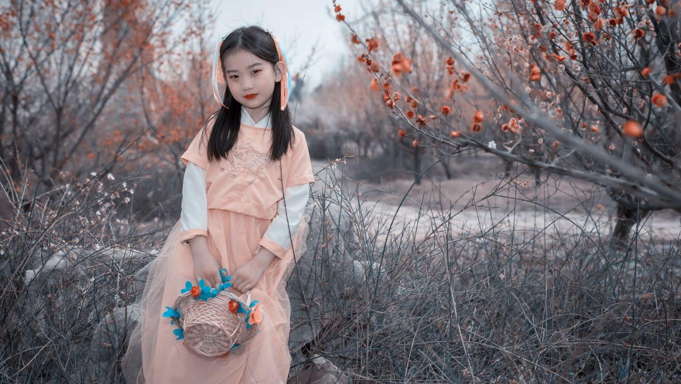 梅林馀妍不争春 小小仙女下凡尘 在费县拍摄小小仙女候依琳_图1-14