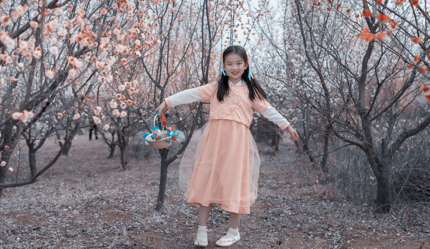 梅林馀妍不争春 小小仙女下凡尘 在费县拍摄小小仙女候依琳_图1-16