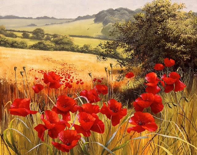 英格兰画家玛丽Dipnall的野生花卉画作_图1-1