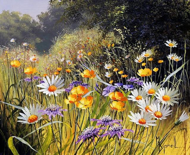 英格兰画家玛丽Dipnall的野生花卉画作_图1-2