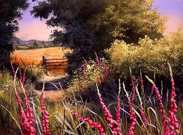 英格兰画家玛丽Dipnall的野生花卉画作_图1-6